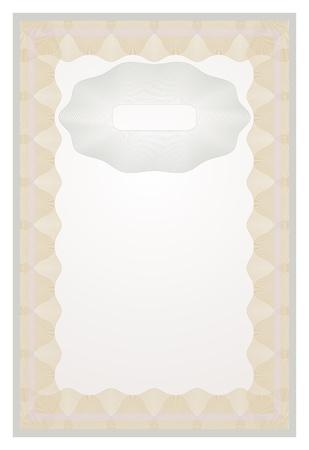 vector vertical certificate border with guilloche elements Stock Vector - 17852664