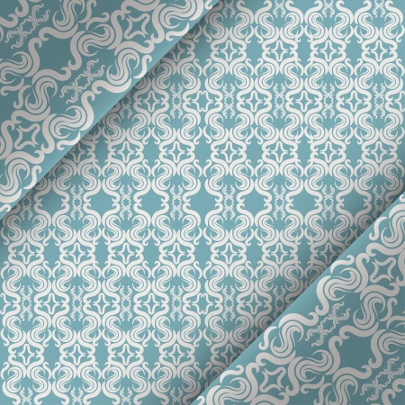 ornate vintage background. Blue and White Stock Vector - 18371192