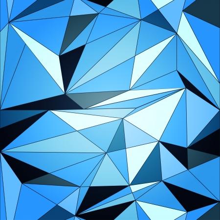 Vector blue diamond geometric background Illustration