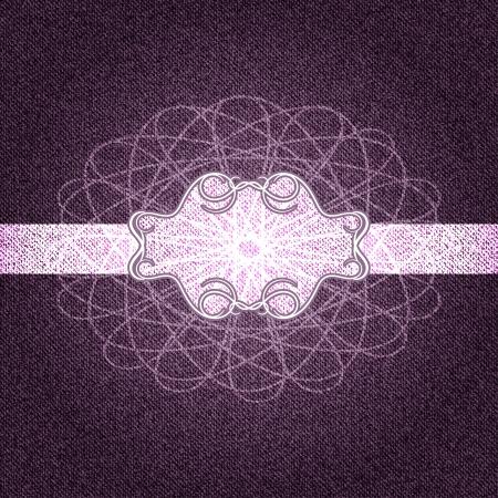 Denim purple vintage background with a printed pattern. Vector illustration Vector