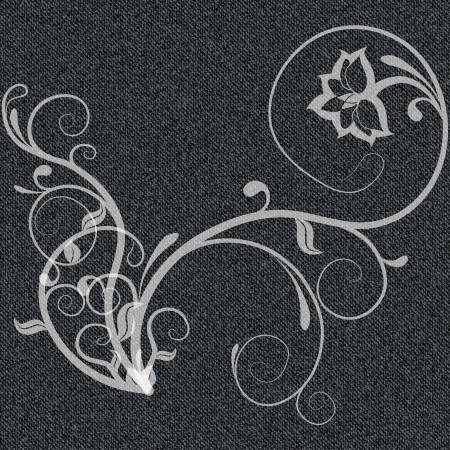 pinstripes: Denim black background with white curls  illustration Illustration