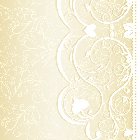 Wedding invitation in delicate lace shades illustration Vector