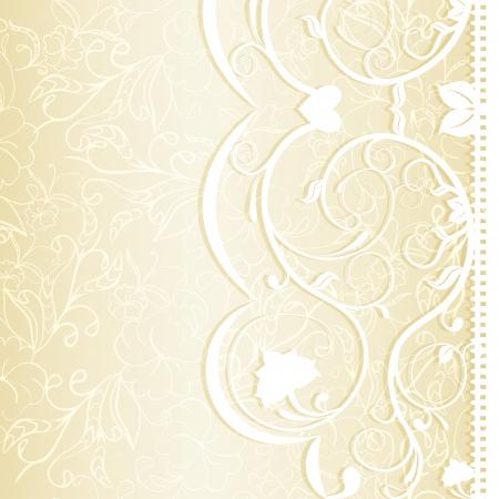 Wedding invitation in delicate lace shades illustration