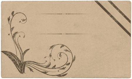 scuff: Antique card with curls and space for text  Vector illustration