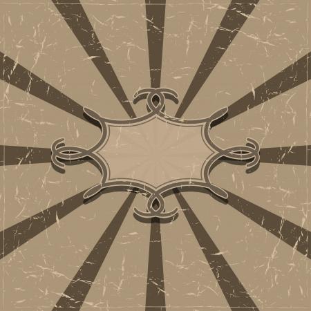 radiating: Grunge background con raggi radiali e una vignetta Illustrazione vettoriale