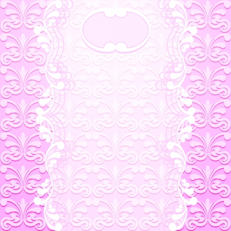 Delicate pink background with transparent tape  Vector illustration Vector