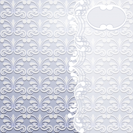 Victorian background with white pattern. Vector illustration Stock Vector - 19356009