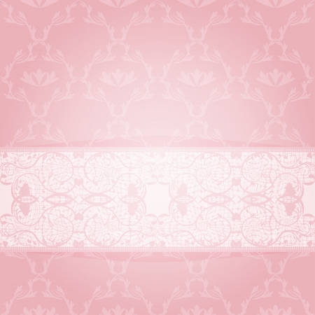 Classic patterned background with white transparent tape. Vector illustration Stock Vector - 19356016