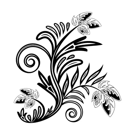 Black and white decorative Item. Vector illustration Stock Vector - 19657432