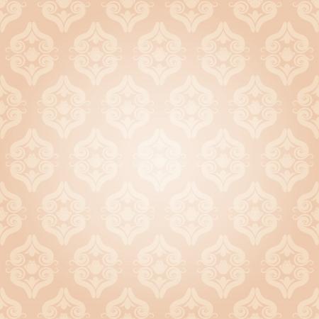 Seamless vintage pattern in pink. Vector illustration Vector