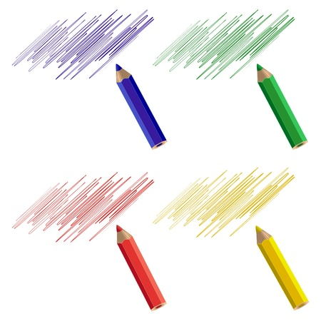A set of four pencil samples. Vector illustration. Stock Vector - 20246110