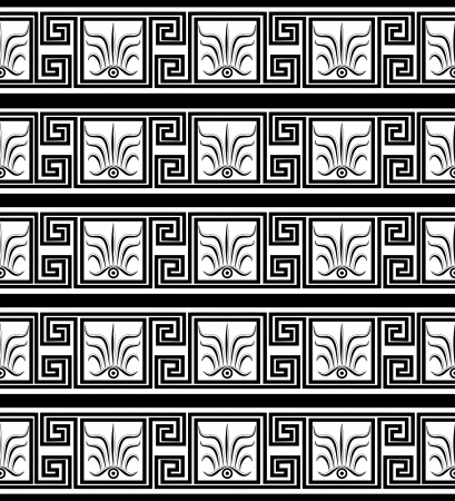 Seamless geometric black-and-white pattern in the Greek style. Vector illustration EPS 8. Vector