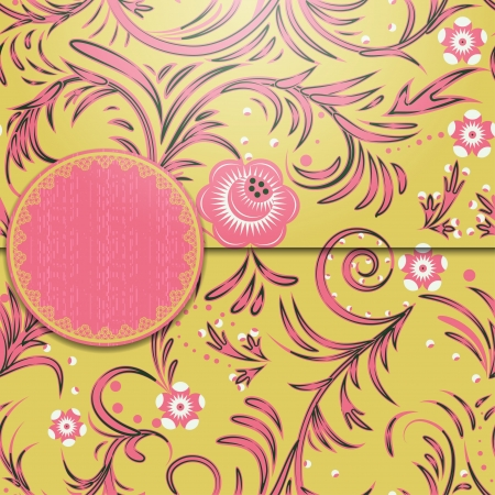 Vintage floral background. Vector illustration EPS 8. Illustration