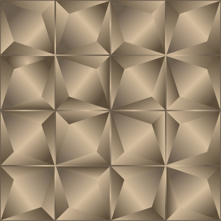 Seamless abstract beige geometric background   illustration Vector