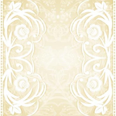 Delicate lace wedding invitation illustration