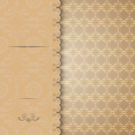 Vintage invitation or greeting card.  illustration