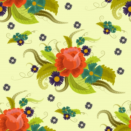 pring: Seamless bright floral pattern illustration
