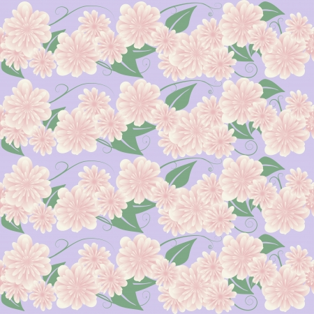 Seamless gentle floral pattern illustration Stock Vector - 20725086