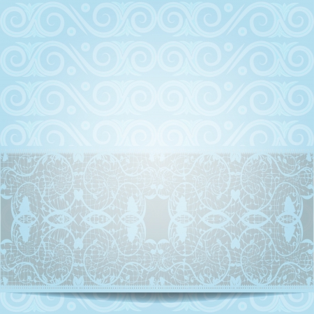 Blue invitation or greeting card illustration Illustration