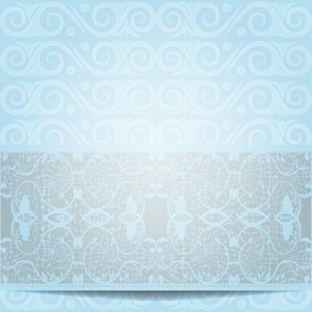Blue invitation or greeting card illustration Illustration
