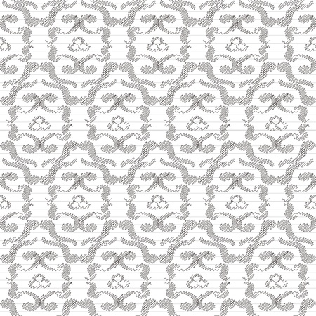 Seamless pattern, drawn in black ink or pencil  Stylization  Vector illustration  Stock Vector - 21561997