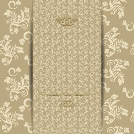 Vintage wedding invitation or greeting card  Vector illustration Stock Vector - 21562003