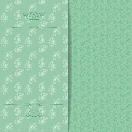 Floral wedding invitation or greeting card  Vector illustration Stock Vector - 21562007