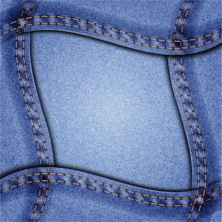 ripply: Denim wavy frame  Vector illustration