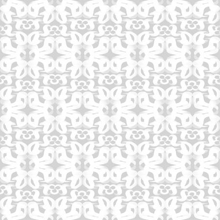 Seamless white patterned wallpaper  Vector illustration