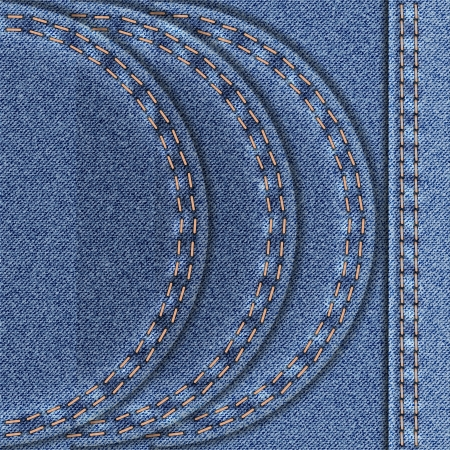 Denim background with three semicircular range  Vector illustration  Vector