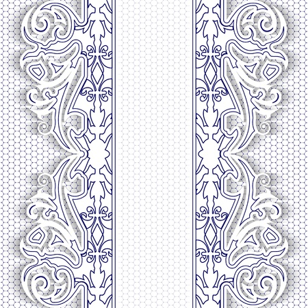 Elegance blue lace floral background  Vector illustration  Illustration