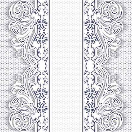 Elegance blue lace floral background  Vector illustration  Illustration