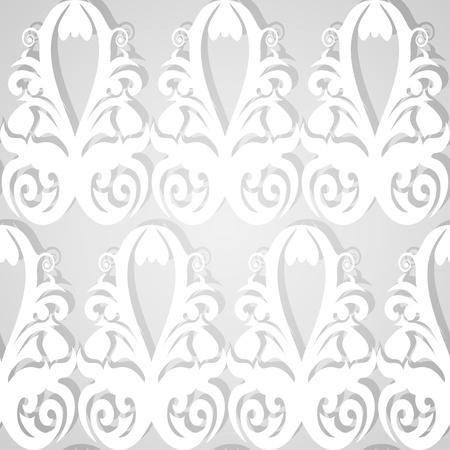 Seamless white patterned wallpaper. Vector illustration. Illustration