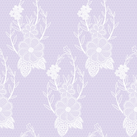 Lace seamless floral openwork. Vector illustration.