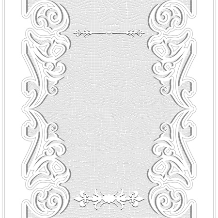 Elegance lace white floral invitation. Vector illustration. Vector
