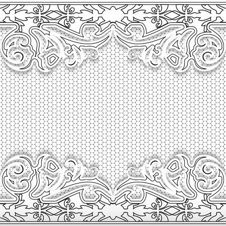 Elegance lace floral background. Vector illustration. Vector
