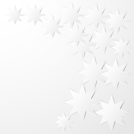 octagonal: Abstract background  Paper white octagonal stars with shadows on a white  Vector illustration  Illustration