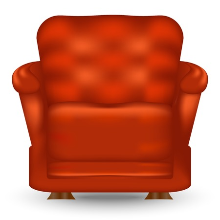 Easy chair with shadow isolated on white  Vector illustration  Vector