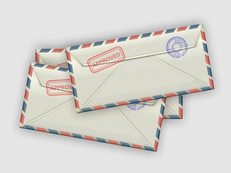 dl: A handful of a few envelopes  Vector illustration