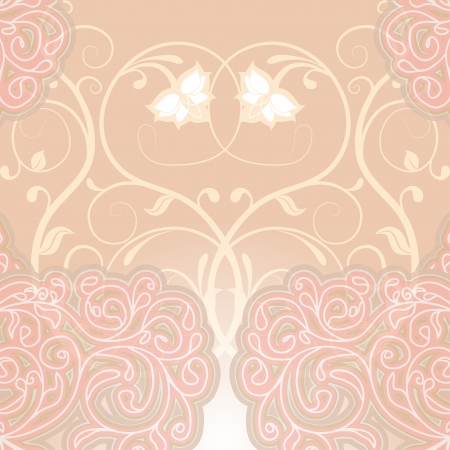 Delicate floral pink background. Can be used to design wedding invitations and greeting cards. Vector illustration. Vector