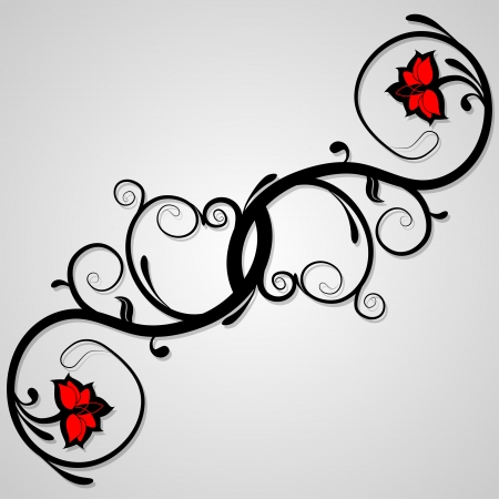 whorls: Delicate background of floral whorls. Decorative elements can be used independently. Vector illustration.