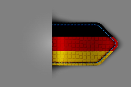 Flag of Germany in the form of a glossy textured label or bookmark. Vector illustration. Vector