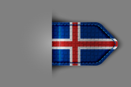 Flag of Iceland in the form of a glossy textured label or bookmark  Vector illustration Stock Vector - 23213581