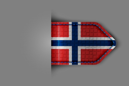 Flag of Norway in the form of a glossy textured label or bookmark  Vector illustration  Stock Vector - 23213655