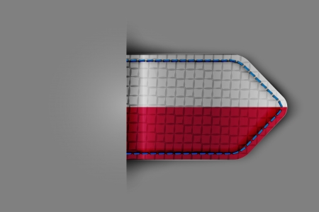 Flag of Poland in the form of a glossy textured label or bookmark  Vector illustration Stock Vector - 23213657