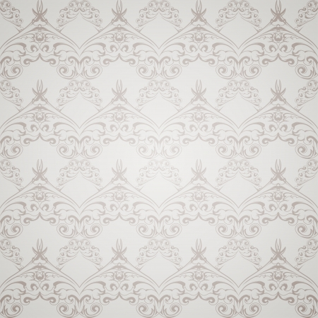 victorian wallpaper: Seamless gray pattern wallpaper in Victorian style  Vector illustration