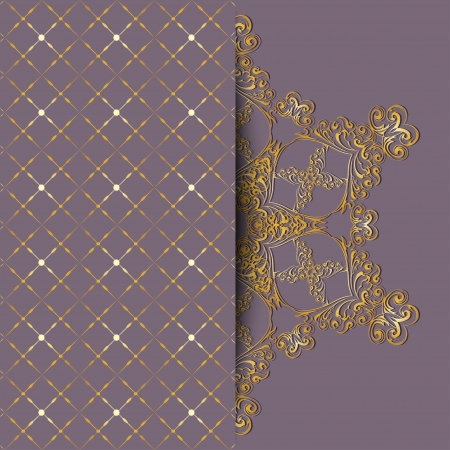 Elegant ornate design greeting card or invitation   Vector