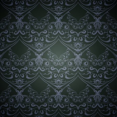 victorian wallpaper: Dark seamless victorian pattern for wallpaper  Vector illustration