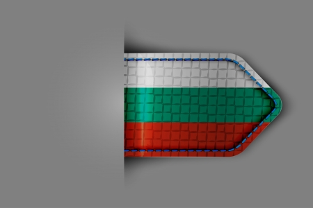 Flag of Bulgaria in the form of a glossy textured label or bookmark. Vector illustration. Stock Vector - 23541050