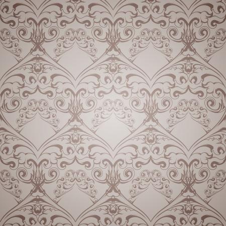 victorian wallpaper: Seamless victorian pattern for wallpaper. Vector illustration.